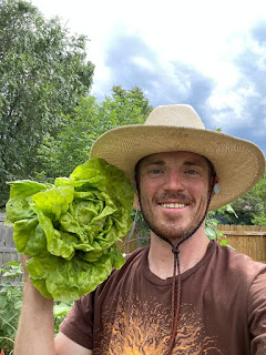 Man with Head of Lettuce