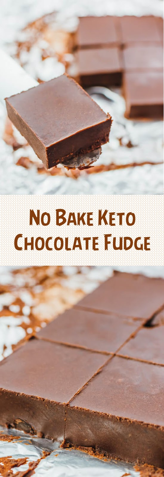 No Bake Keto Chocolate Fudge