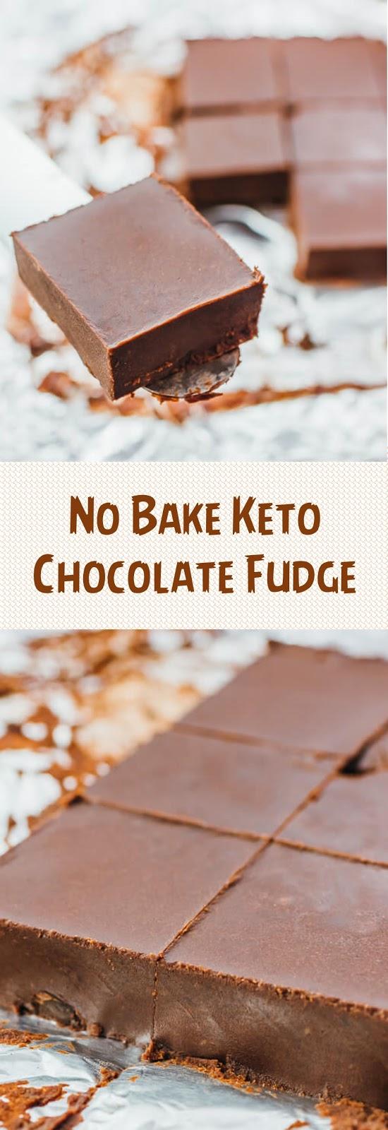 No Bake Keto Chocolate Fudge