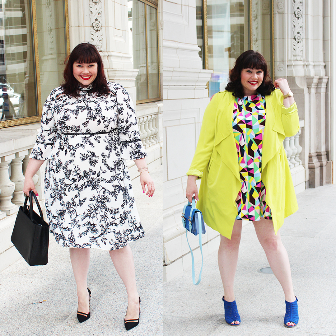 Plus Size Dresses from Simply Be modeled by plus size blogger Style Plus Curves