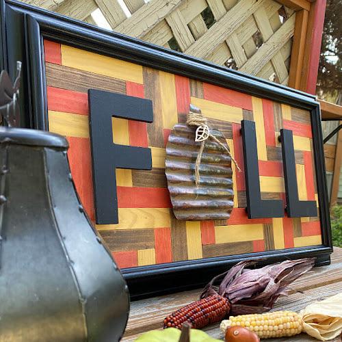Easy Beginner Wood Tile Mosaic Wall Art For Fall
