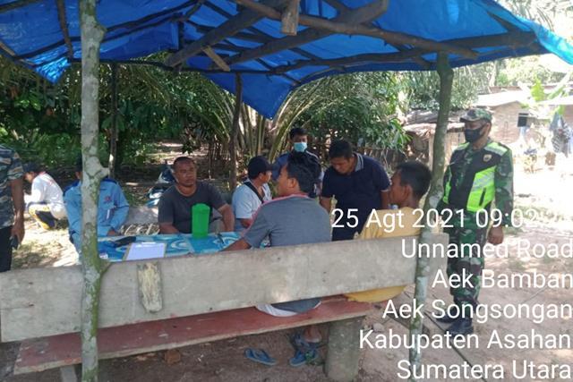 Bangun SInergitas, Personel Jajaran Kodim 0208/Asahan Laksanakan Komsos Dengan Para Kadus Wilayah Binaan