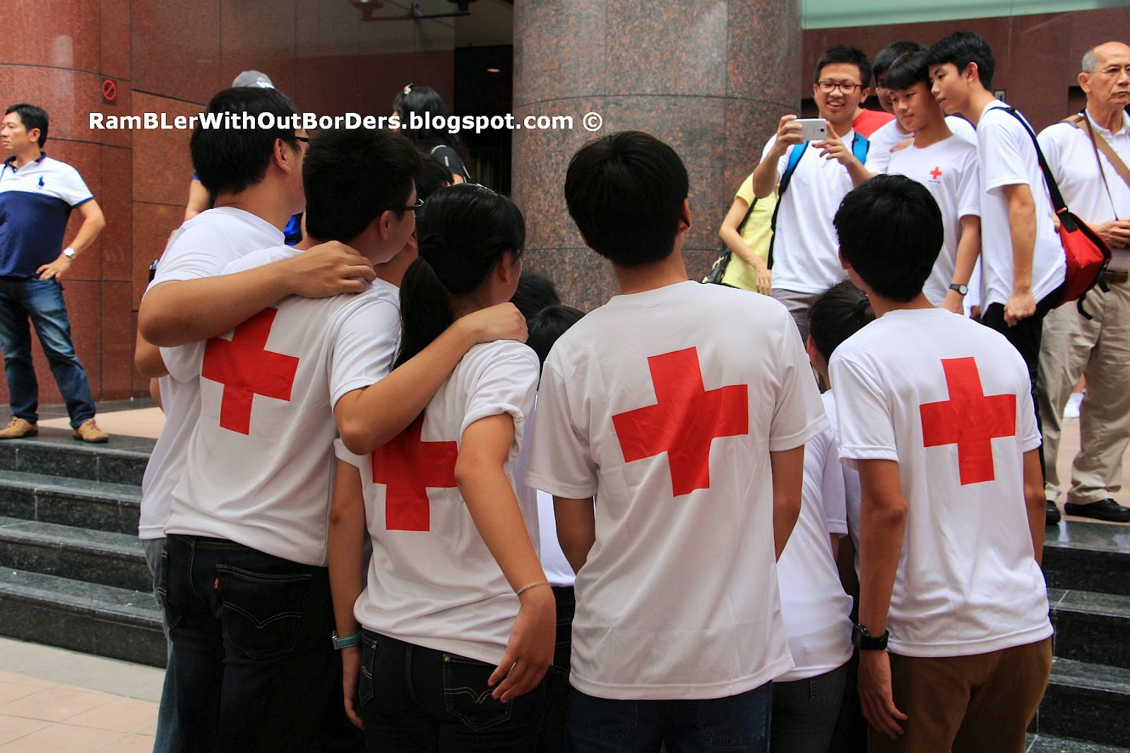 Red Cross volunteer, Singapore International Red Cross Bazaar 2015