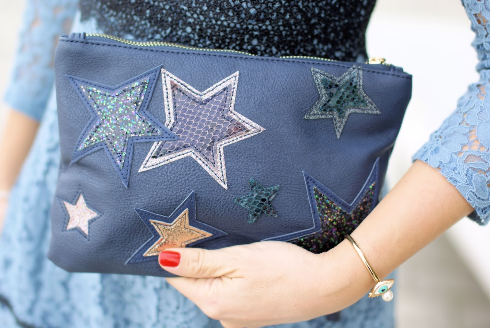 Clutch con stelle Accessorize Fashion and Cookies fashion blog, fashion blogger style