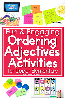 Searching for some fun ordering adjectives activities for upper elementary students? Check out these engaging activities.