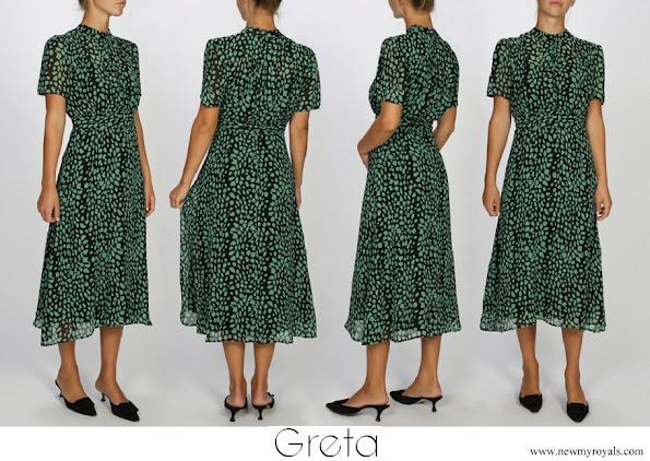 Crown Princess Victoria wore Greta Stockholm Clara silk chiffon dress