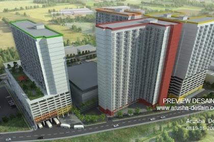 Design 3dmax Kawasan Apartemen Mewah dan Megah
