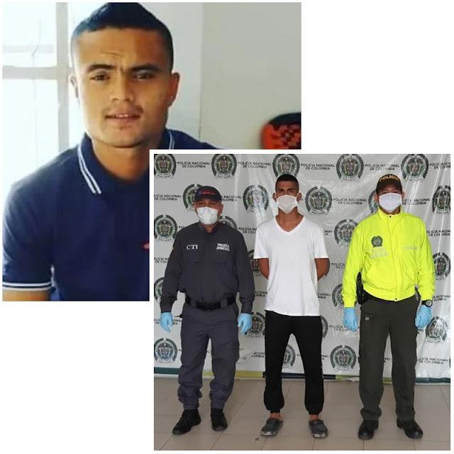 Cayó autor del asesinato de entrenador del fútbol vallenato,Johandriz Martínez Medina