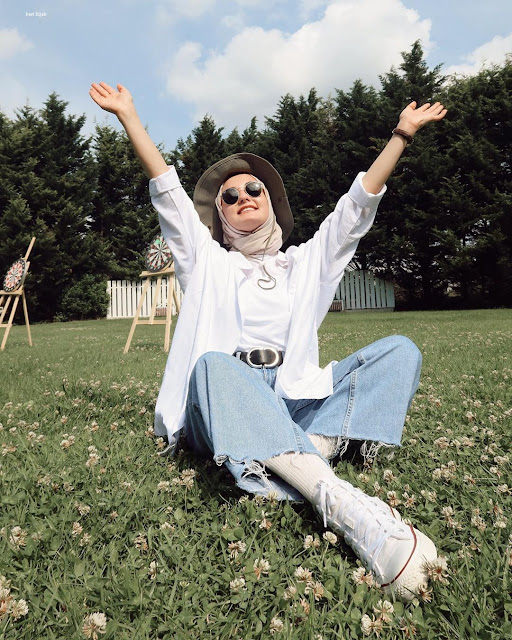 أفكار الحجاب مع الجينز في صيفي