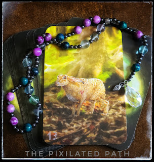 The Solitary Hare card from The Sidhe Oracle of the Fleeting Hare