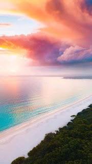 سماء ملونه جميله بألوان الغروب