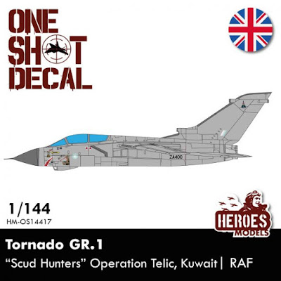 "HM-OS14417 1/144 Tornado GR.4 | ""Scud Hunters"" OP. Telic  One shot decal"