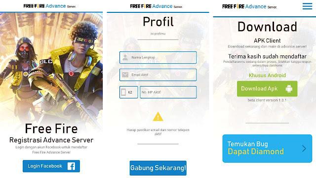 Cara Download Free Fire Advance Server APK  Cara Download Free Fire Advance Server APK 2021