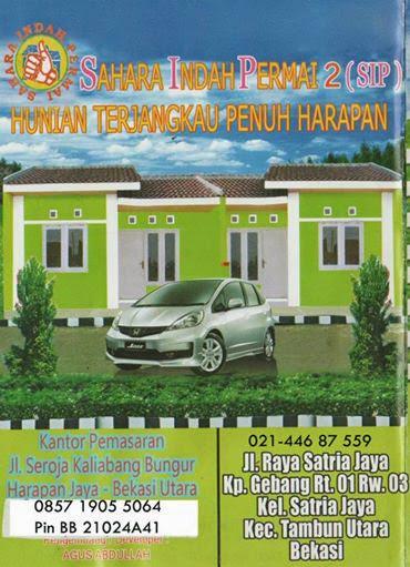 Rumah Murah Bekasi Booking Cuma 600 Ribu DP-5 Jutaan