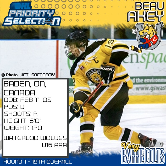 Barrie Colts 2021 OHL Priority Selection Draft Pick - Beau Akey (Round 1 | 19th Overall w/VIDEO)