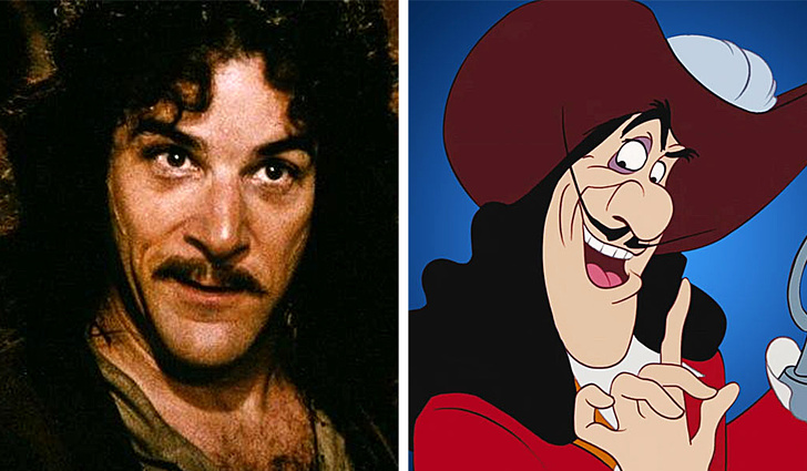 In Captain Hook of Peter Pan, many saw similarities with Mandy Patinkin.