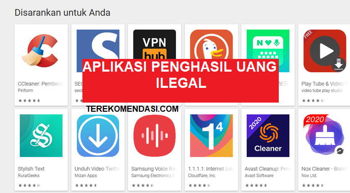 Daftar Aplikasi Penghasil Uang Dinyatakan Ilegal Oleh Ojk Dan Kominfo Alkoyendra Com