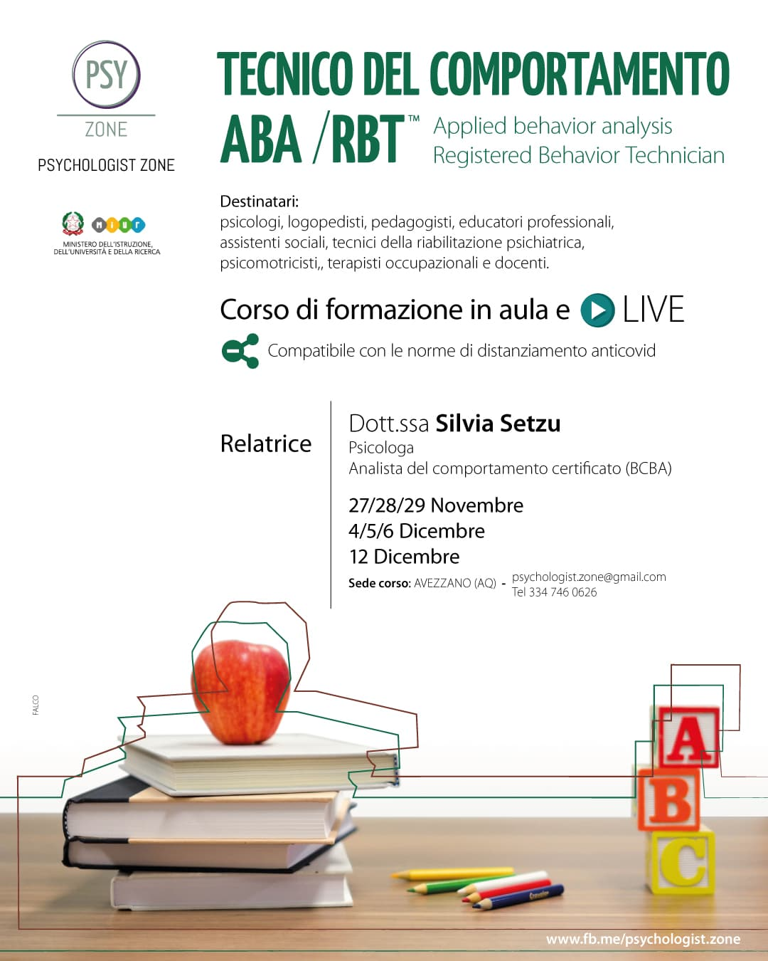 Corso Tecnico del comportamento RBT™ (Registered Behavior Technician™)