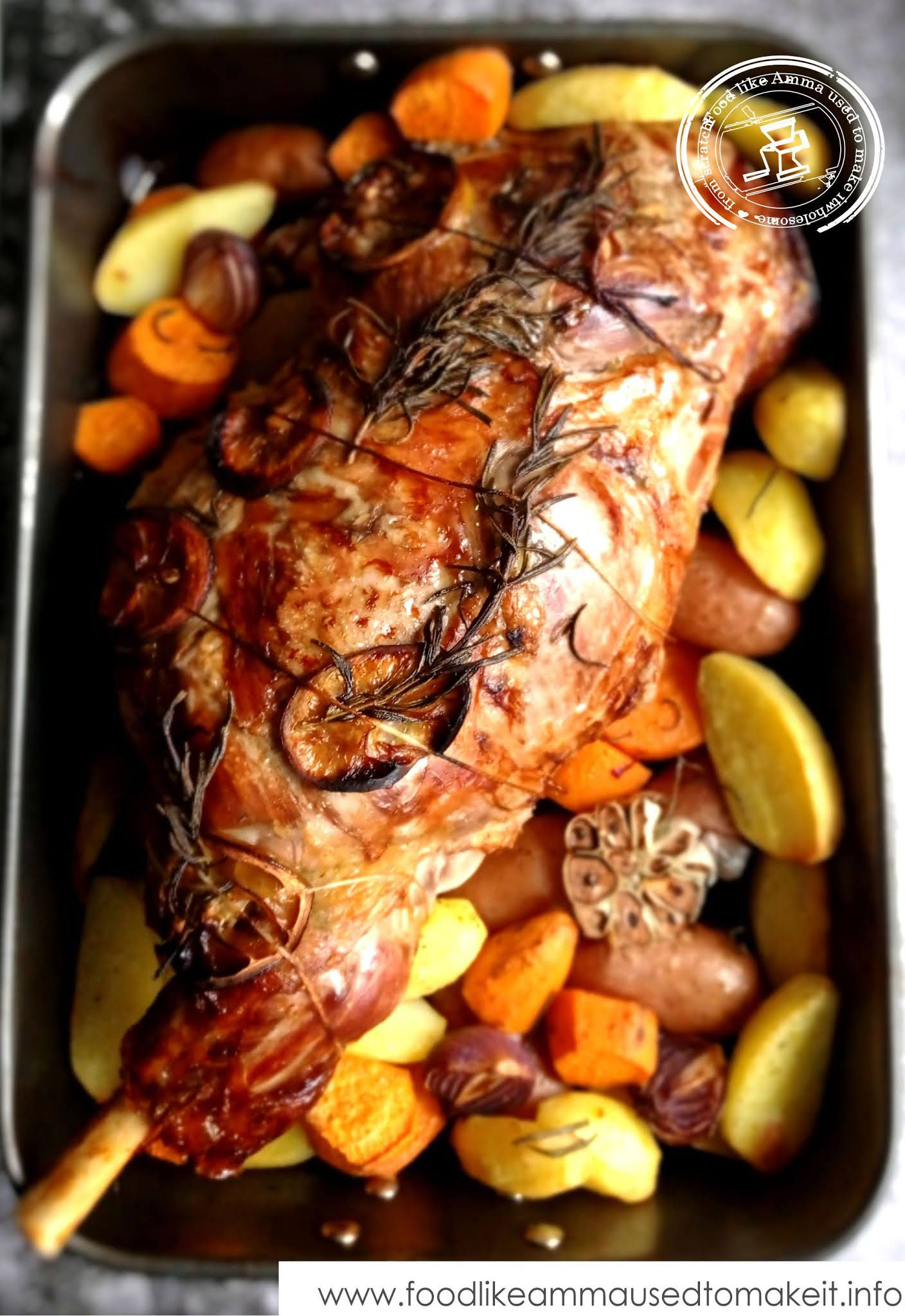 lamb with rosemary lemon and garlic