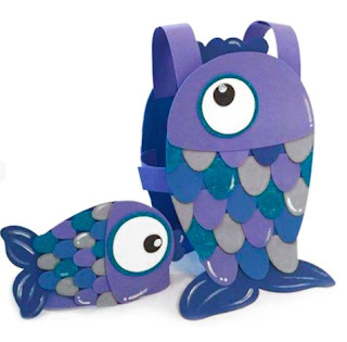disfraz de pez azul de foami
