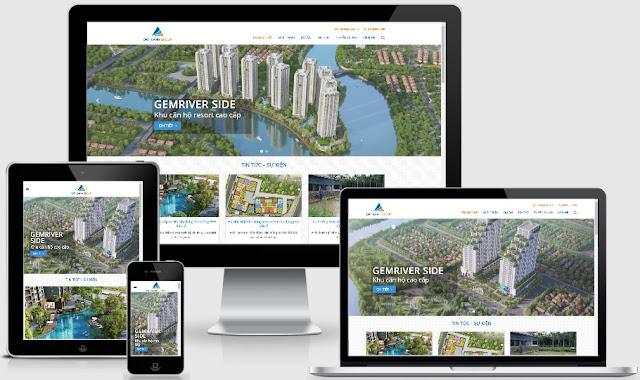 Theme wordpress website tổng bất động sản giống datxanh.vn