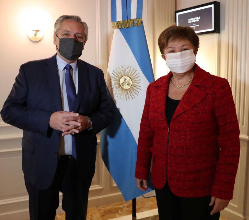 Alberto Fernández se reunió con Kristalina Georgieva en Roma