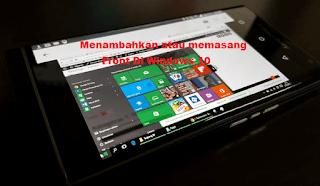 Cara Termudah Menambahkan atau Meng-instal Front Pada Windows
