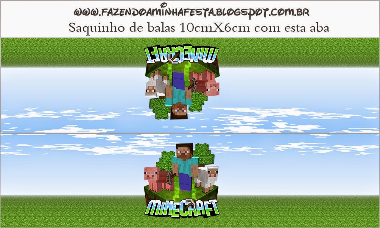 Minecraft Etiquetas Para Candy Bar Para Imprimir Gratis