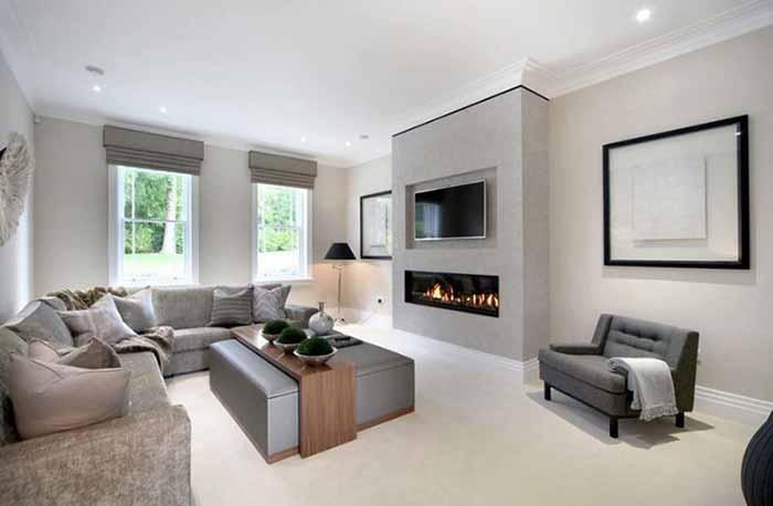 21 thiết kế phòng khách hiện đại màu xám và trắng tuyệt đẹp