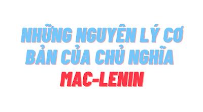 GIÁO TRÌNH NHỮNG NGUYÊN LÝ CƠ BẢN CỦA CHỦ NGHĨA MAC-LENIN