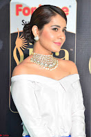 Raashi Khanna in Off Shoulder Top and Blue Skirt Cuteness Overloaded at IIFA Utsavam Awards 2017  HD Exclusive Pics 05.JPG
