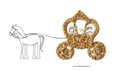 Carroza para princesas motivo a crochet