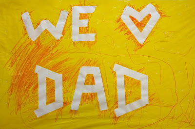 Tape resist Father's Day craft from And Next Comes L
