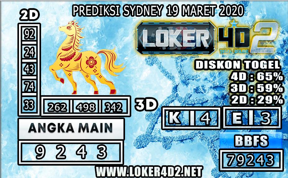 PREDIKSI TOGEL SYDNEY  LOKER4D2 19 MARET 2020
