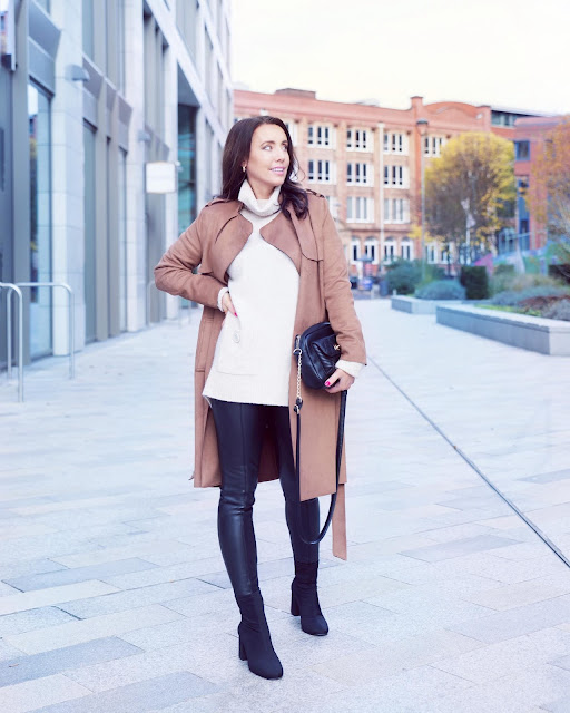 how to wear a trench coat in autumn