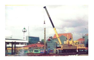 Aplikasi teknologi Hydraulic Static Pile Driver (HSPD) pada proyek pembangunan  Rusunami Cawang – Jakarta Timur