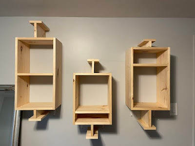Shelves in the shape of box plots.