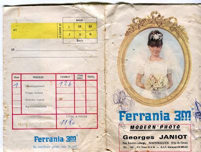 Pochette photo Ferrania 3M, G. Janiot Maringues 63