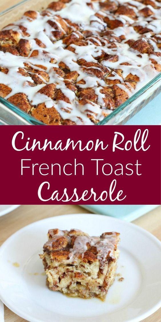 Easy Homemade Cinnamon Roll French Toast Casserole