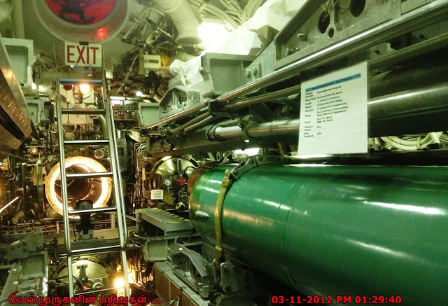 Torpedo inside the submarine