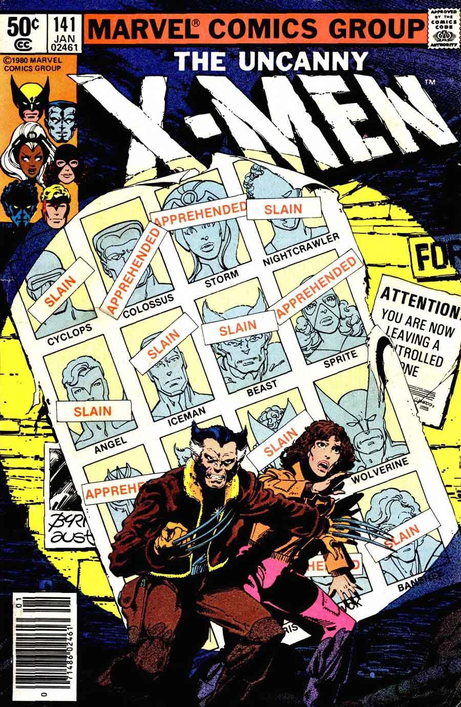 X-men v1 #141 marvel comic book cover art by John Byrne