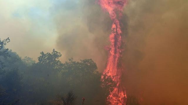 Παραμένει σε εξέλιξη η φωτιά στη Μεσσηνία