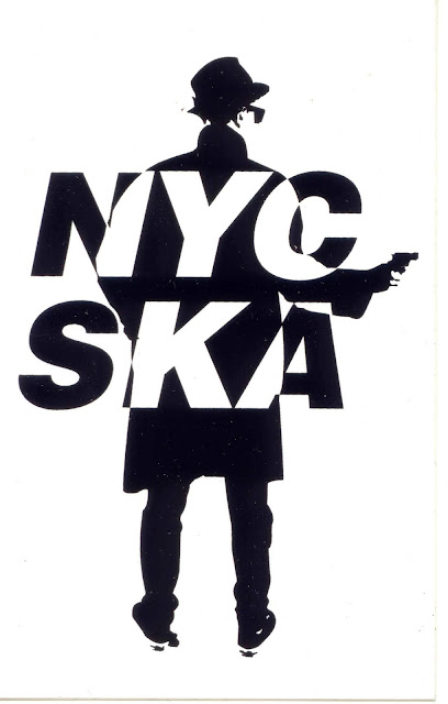 The sticker features a rude boy with his back to us pointing a pistol to his right.