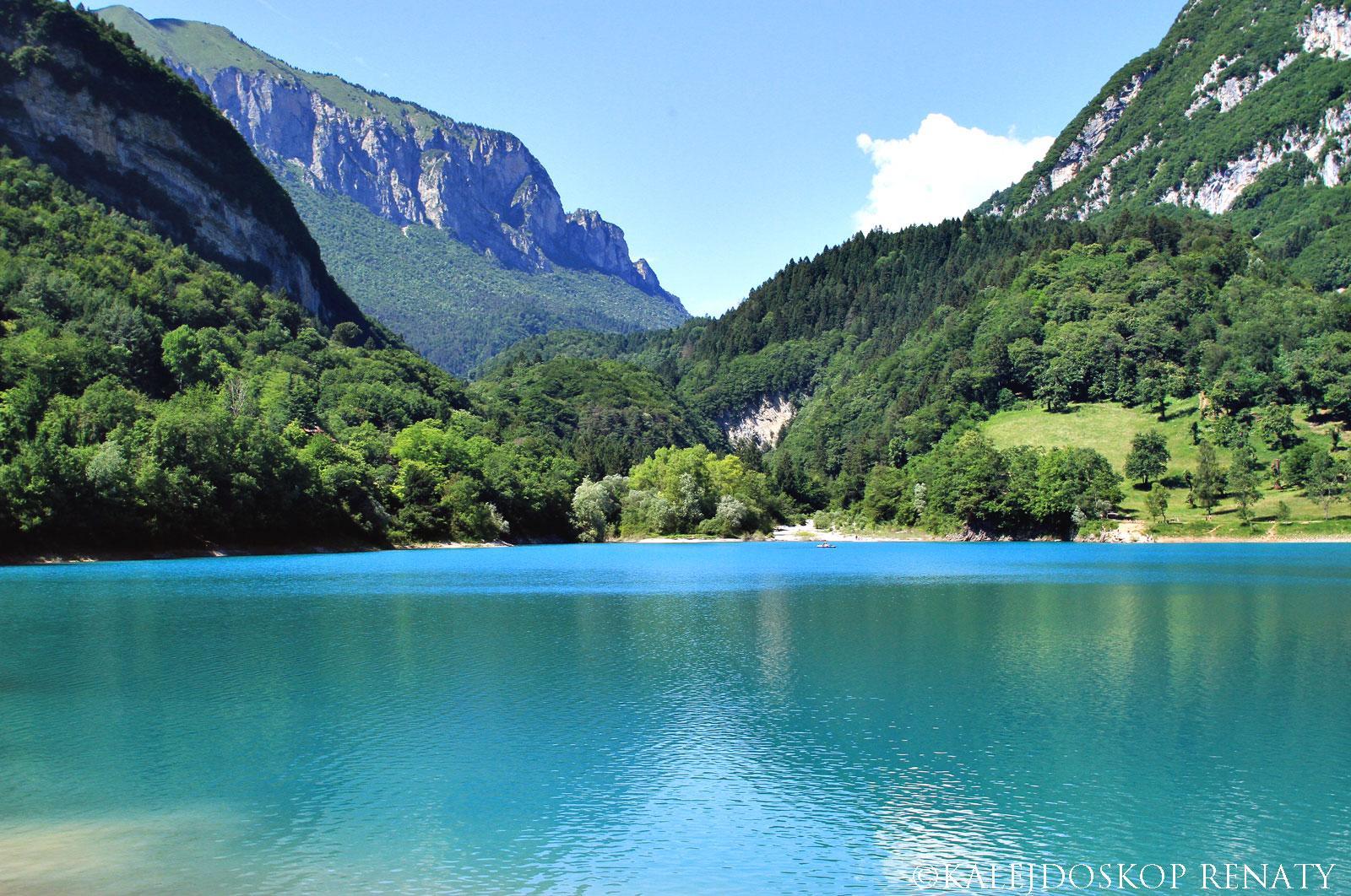 błękitne jezioro Tenno