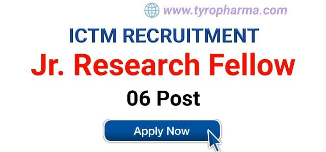 ict Recruitment,ictm vacancies,jrf,junior research fellow job