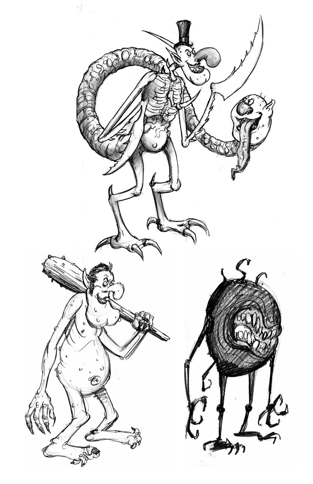 Frank Forte: Billy Boy cartoons sketches