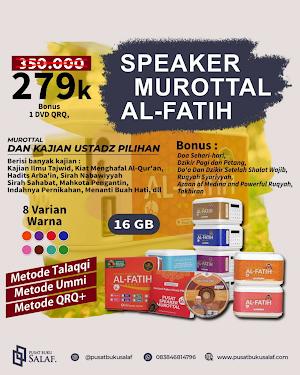 PAKET SPEAKER MUROTTAL AL-FATIH 16 GB