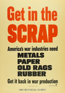 WW2 Recycle Metals Paper Rags Rubber  Poster
