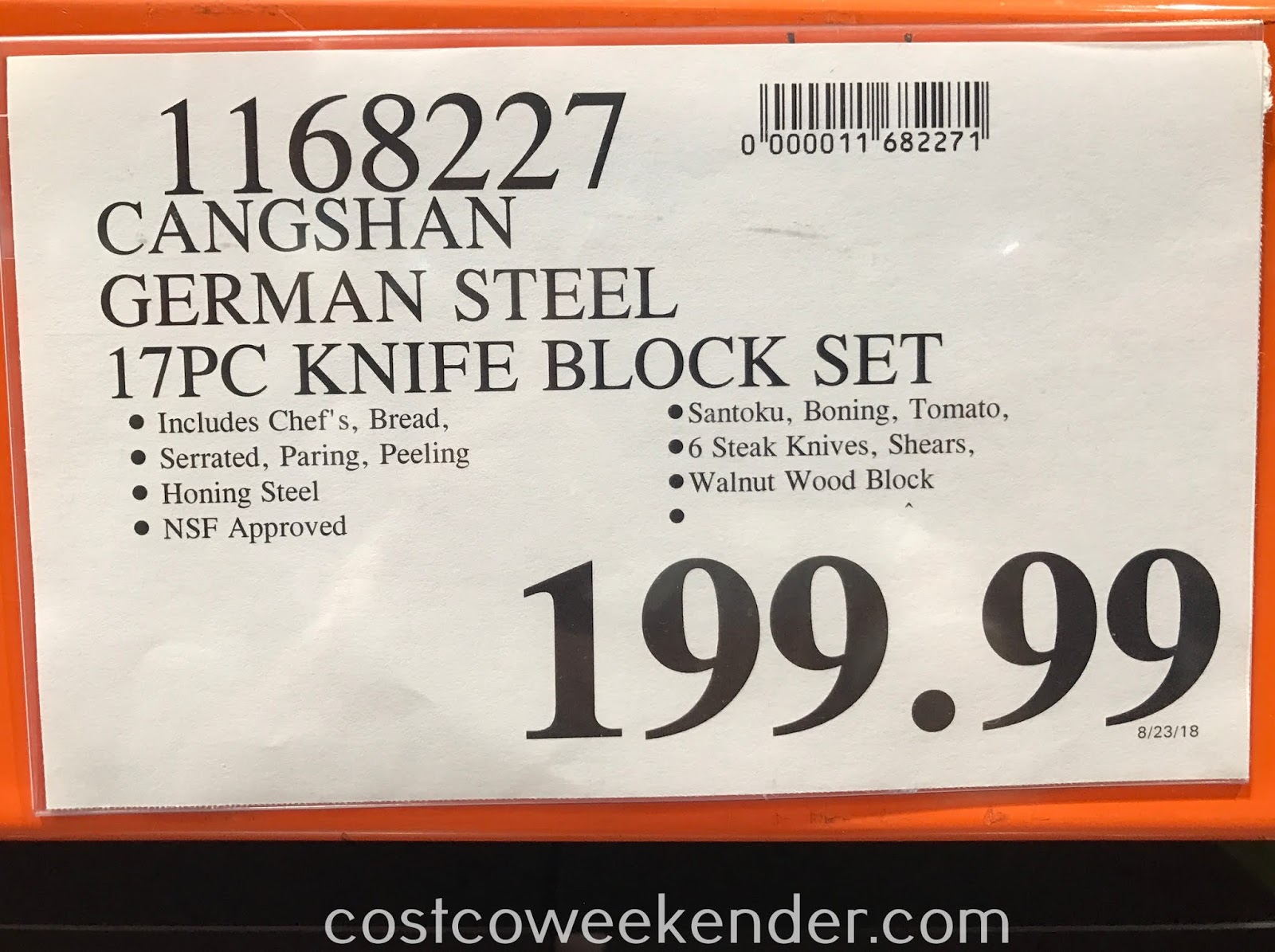 Deal for the Cangshan German Steel 17pc Knife Block Set at Costco