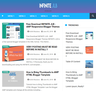 Infinity AMP Blogger Template